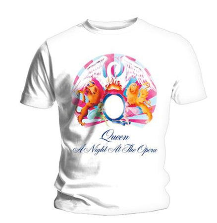 Queen - A Night At The Opera - White  t-shirt