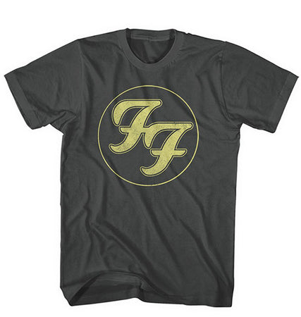 Foo Fighters - Distressed FF Logo - Black T-shirt