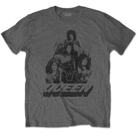 Queen - 70's Photo - Charcoal Grey T-shirt