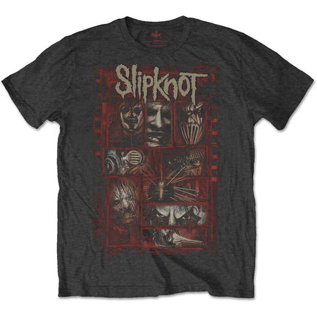 Slipknot - Sketch Boxes - Black t-shirt