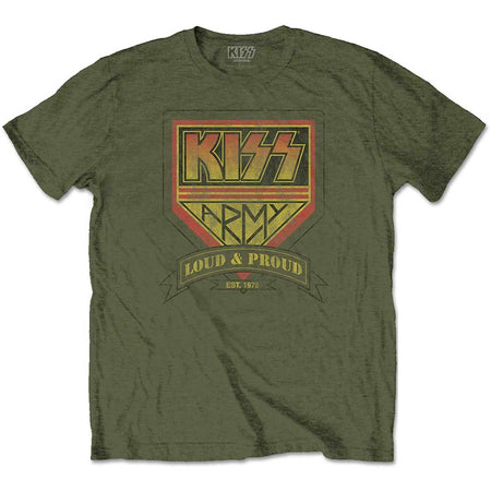 Kiss - Loud & Proud - Military Green t-shirt