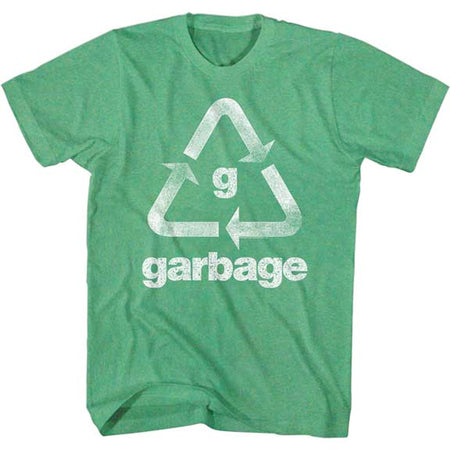 Garbage - Recycle Garbage - Heather Kelly Green t-shirt