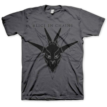 Alice In Chains - Black Skull - Charcoal Grey T-shirt