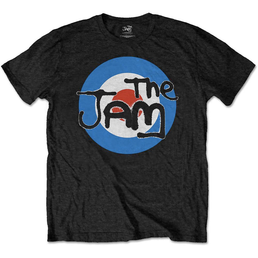 The Jam - Spray Target Logo -Black t-shirt