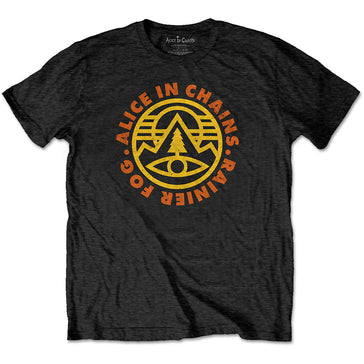 Alice In Chains - Pine Emblem - Black T-shirt