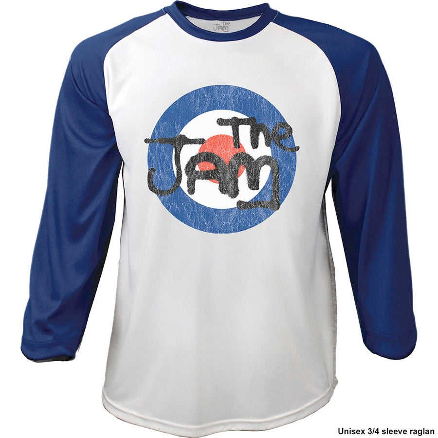 The Jam - Target Logo Distressed - Raglan Baseball Jersey t-shirt