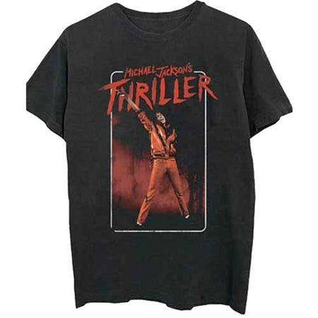 Michael Jackson - Thriller White Red Suit - Black  t-shirt