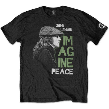 John Lennon - Imagine Peace - Black  T-shirt