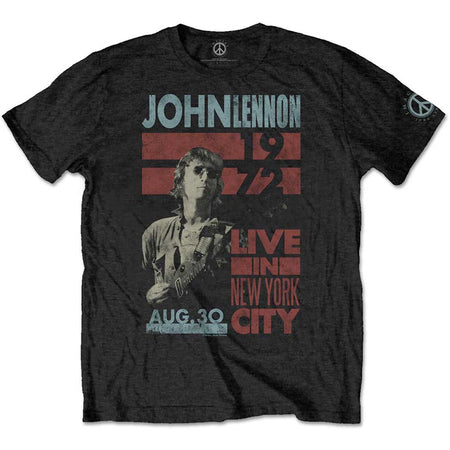 John Lennon - Live In New York City - Black T-shirt