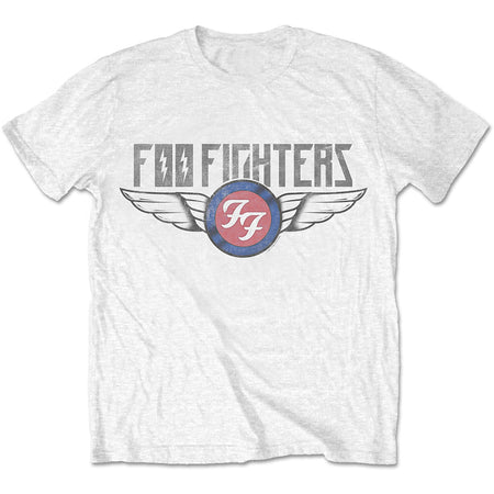 Foo Fighters - Flash Wings - White  T-shirt