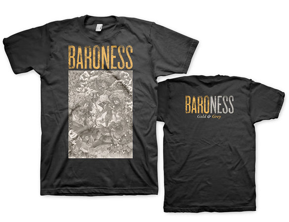 Baroness - Gold And Grey - Black t-shirt