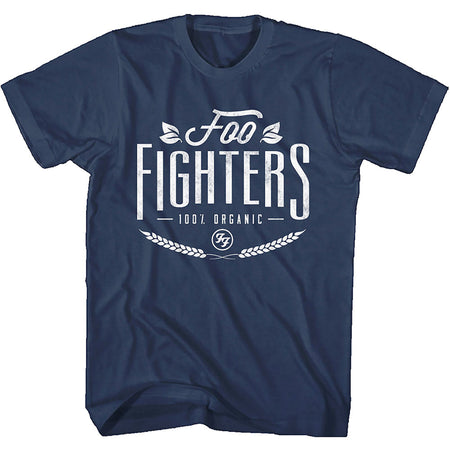 Foo Fighters - 100% Organic Logo - Navy Blue  T-shirt