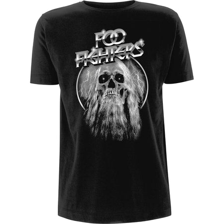 Foo Fighters - Bearded Skull - Black  T-shirt