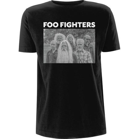 Foo Fighters - Old Band Photo - Black  T-shirt