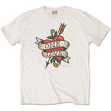Nas - Love Tattoo  - White t-shirt