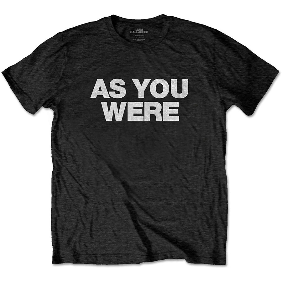 Oasis - Liam Gallagher-As You Were - Black t-shirt