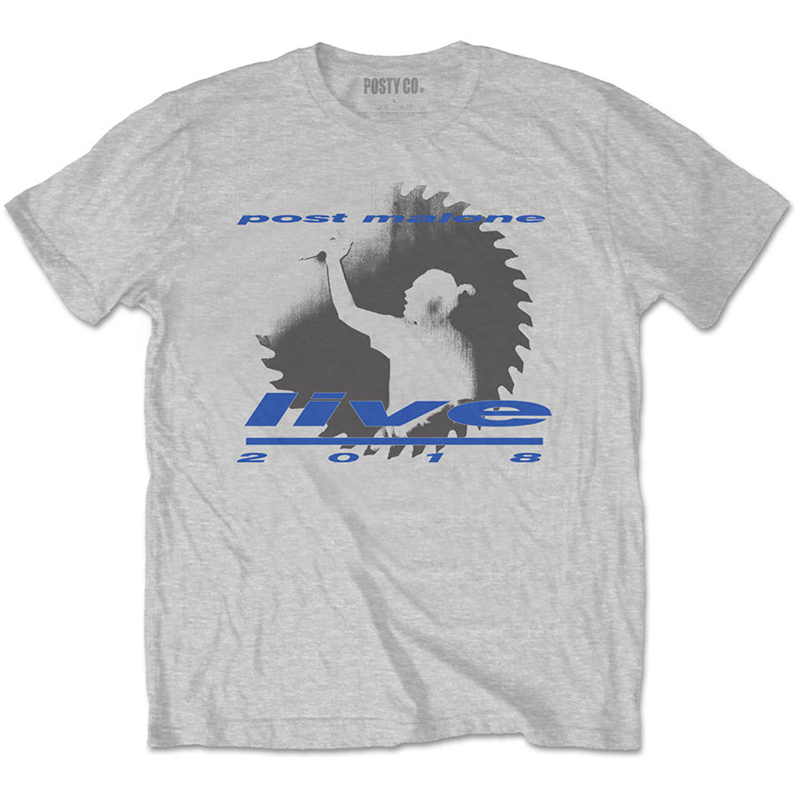 Post Malone - Live Saw - Grey t-shirt