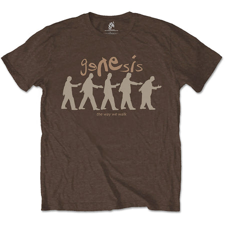 Genesis - The Way We Walk - Dark Chocolate Brown t-shirt
