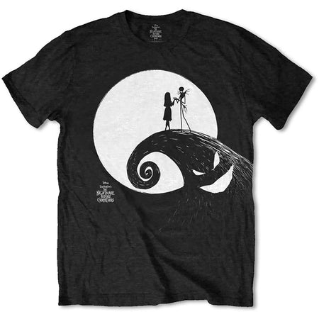The Nightmare Before Christmas - Moon - Black t-shirt