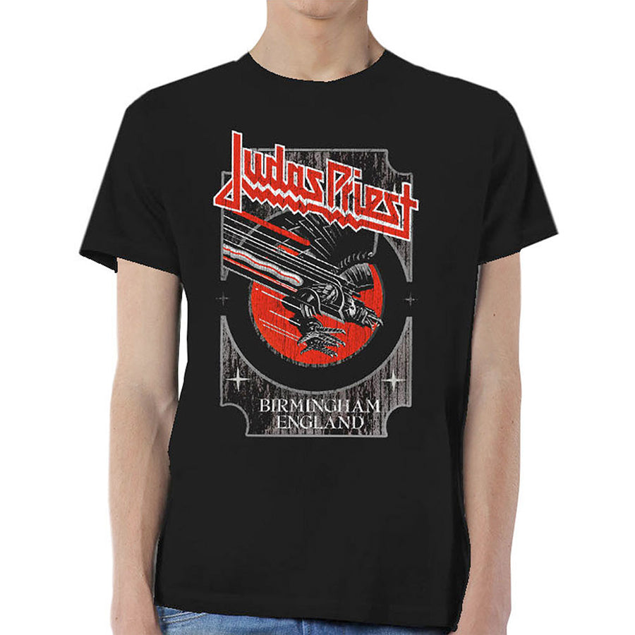 Judas Priest - Silver and Red Vengeance - Black t-shirt