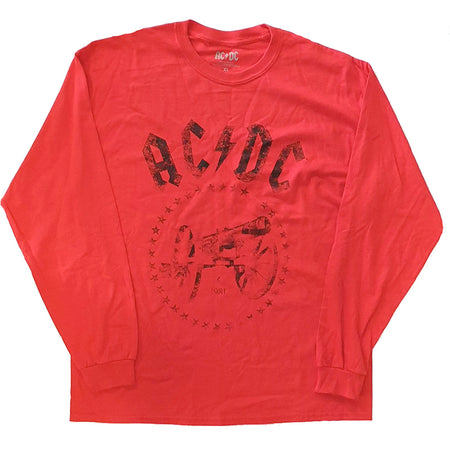 AC/DC - For Those About To Rock - Longsleeve Red T-shirt