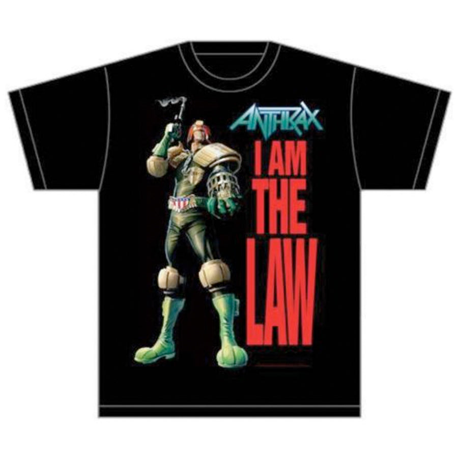Anthrax - I Am The Law - Black T-shirt