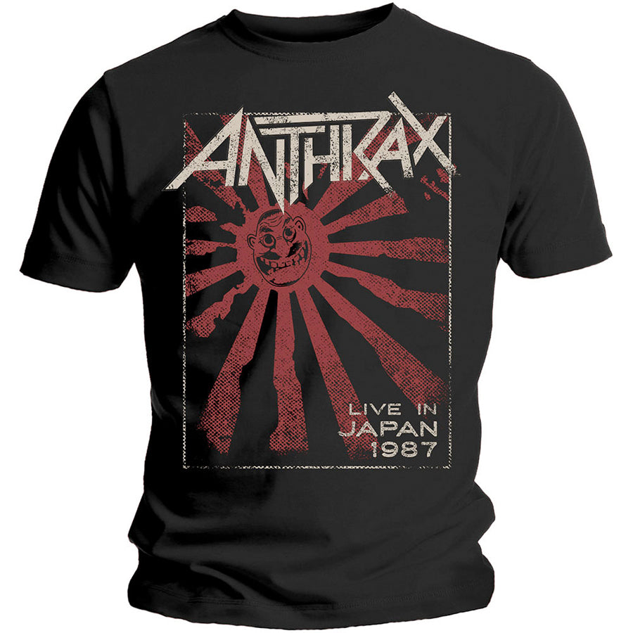 Anthrax -Live In Japan - Black T-shirt