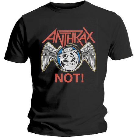 Anthrax -Not Wings - Black T-shirt