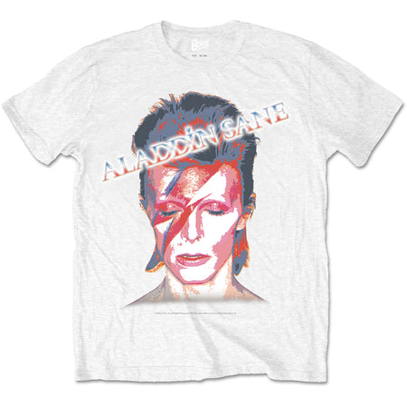David Bowie - Aladdin Sane - White t-shirt
