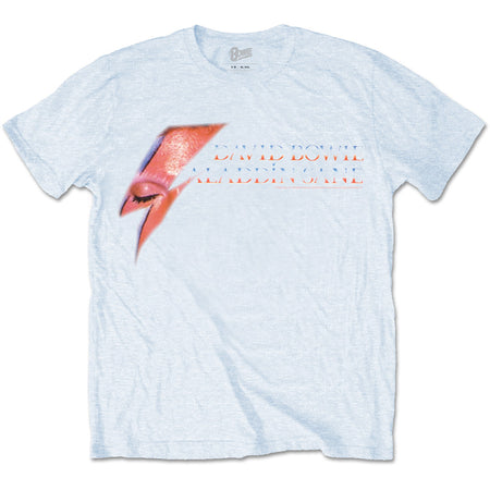 David Bowie - Aladdin Sane Eye Flash - Light Blue t-shirt