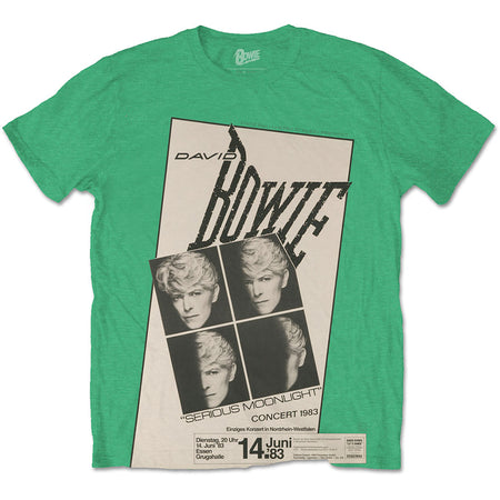 David Bowie - Concert 83 - Irish Green t-shirt