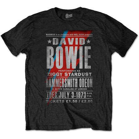David Bowie - Hammersmith Odeon - Black t-shirt