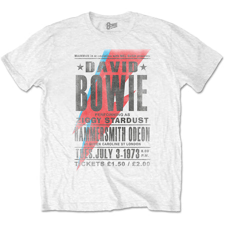 David Bowie - Hammersmith Odeon - White t-shirt