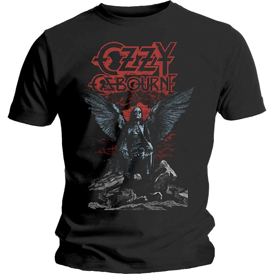 Ozzy Osbourne - Angel Wings - Black  T-shirt