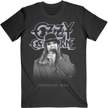 Ozzy Osbourne - Ordinary Man Snake Ryograph - Black  T-shirt