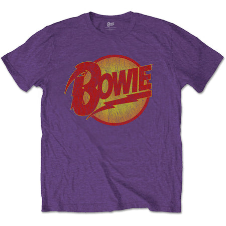 David Bowie - Vintage Diamond Dogs Logo - Purple t-shirt