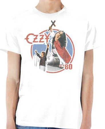 Ozzy Osbourne - Blizzard Of Ozz 80 - White  T-shirt