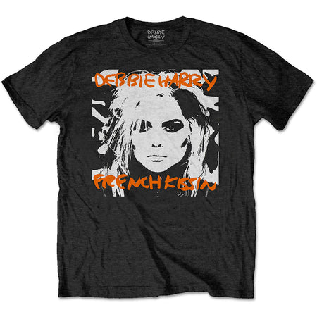 Blondie - Debbie Harry-French Kissin' - Black t-shirt