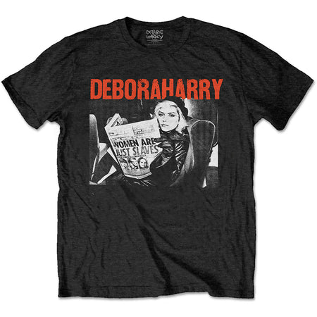 Blondie - Debora Harry-Women Are Just Slaves - Black t-shirt