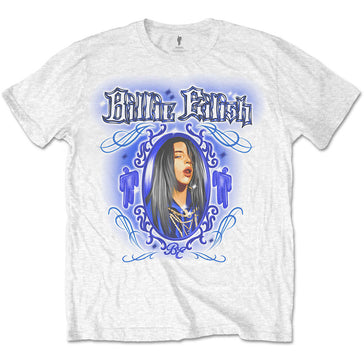 Billie Eilish - Airbrush - White t-shirt