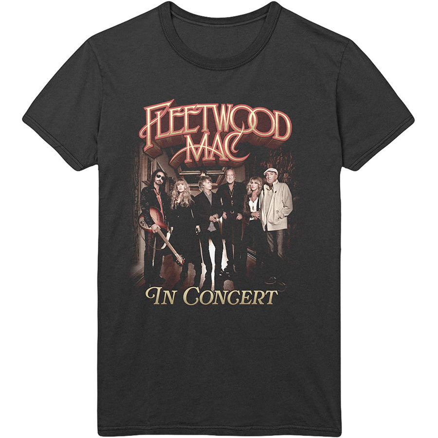 Fleetwood Mac - In Concert  - Organic Cotton Black T-shirt