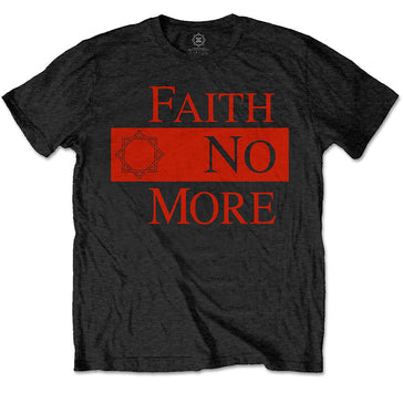 Faith No More - Classic New Logo Star - Black T-shirt