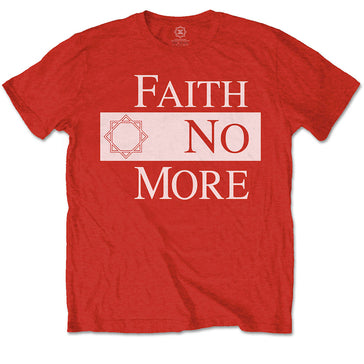 Faith No More - Classic New Logo Star - Red T-shirt