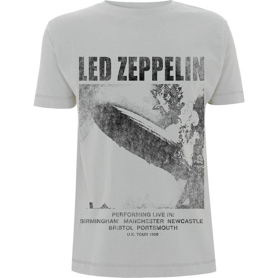 Led Zeppelin - UK Tour 69-Led Zep 1 - Grey T-shirt