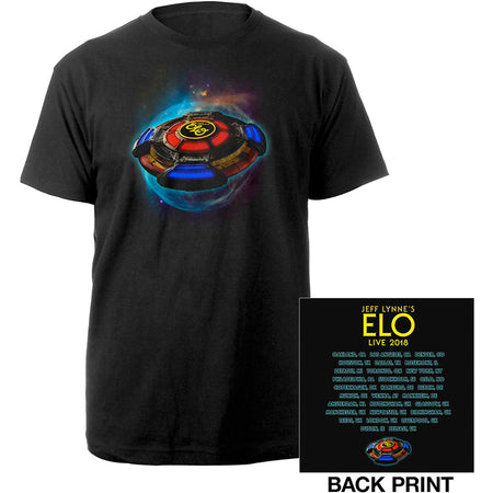 ELO-Electric Light Orchestra - 2018 Tour Logo - Black t-shirt