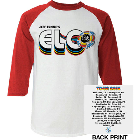 ELO-Electric Light Orchestra - 2018 Tour Logo - Raglan Baseball Jersey t-shirt