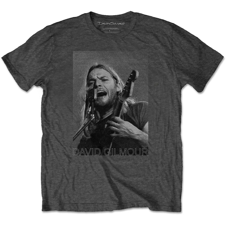 David Gilmour - Pink Floyd - On Mic Half Tone - Charcoal Grey t-shirt