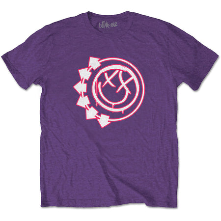 Blink 182 - Six Arrow Smiley - Purple t-shirt
