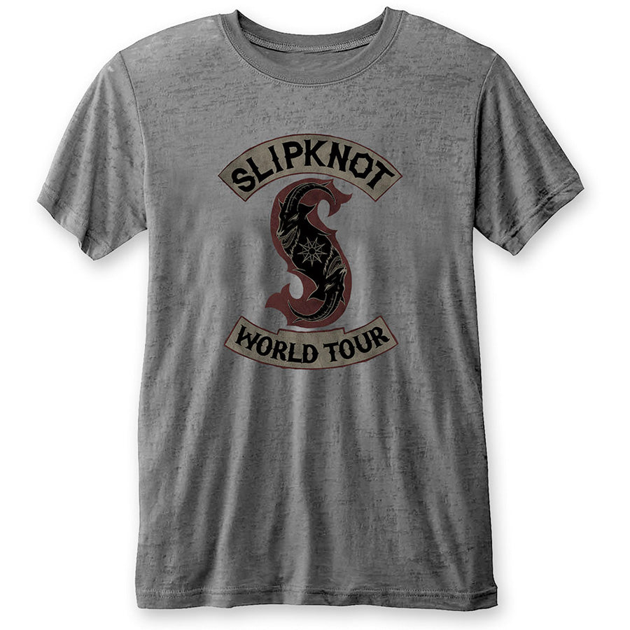 Slipknot - World Tour - Burn Out Charcoal Grey t-shirt
