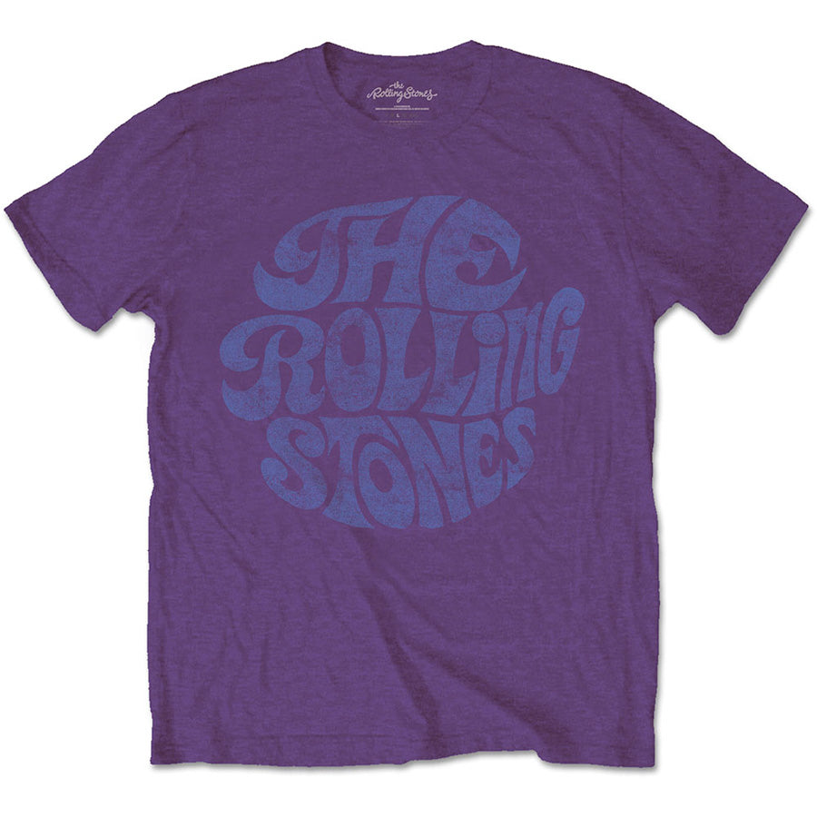 The Rolling Stones - Vintage 70's Logo - Purple T-shirt